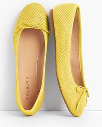 Talbots - Penelope Herringbone Ballet Flats - Lyst