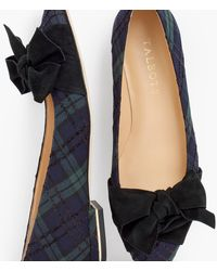 Talbots Edison Wrapped Bow Flats - Blue