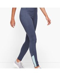 Talbots On The Move Colorblock Leggings - Blue
