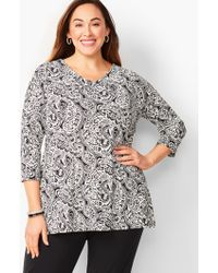 78ce178617ee64 City Chic Plus Three-quarter Frill Sleeve Sheer Top in Black - Lyst