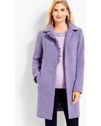 Talbots - Albury Wool Ruffle Coat - Lyst
