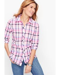 Talbots Classic Cotton Shirt - Pink
