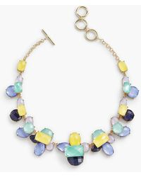 Talbots - Colorful Faceted Necklace - Lyst