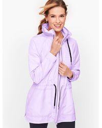 Talbots Cinch Waist Water Resistant Jacket - Purple