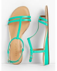Talbots - Daisy Micro-wedge Sandals - Leather - Lyst