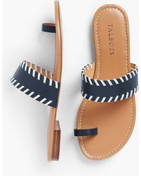 Talbots - Gia Leather Toe-ring Sandals - Lyst