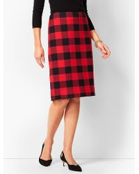 Talbots - Buffalo-check Pencil Skirt - Lyst