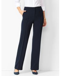 Talbots Crepe Wide-leg Pants - Blue