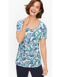 Talbots Cotton Blend Jersey T-shirt - Blue