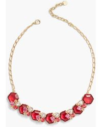 Talbots Cluster Necklace - Multicolour