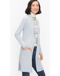 Talbots Supersoft Shawl Collar Duster Cardigans - Blue