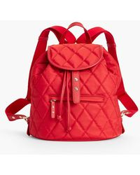 Talbots - Quilted Leather-trim Bag - Lyst