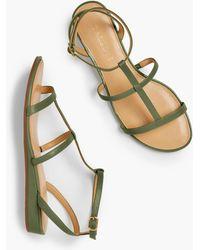 Talbots Daisy Gladiator Micro-wedge Sandals - Multicolor
