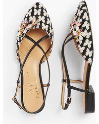 Talbots Edison Slingback Flats - Butterfly Jacquard - Multicolor