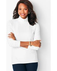 Talbots Long-sleeve Turtleneck - White