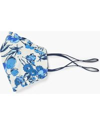 Talbots Blue Floral Ruffle Face Mask