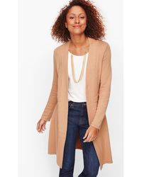Talbots Classic Open Front Duster Cardigans - Blue