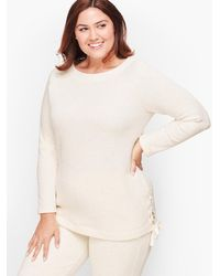 Talbots Plush Terry Pullover Jumper - Natural