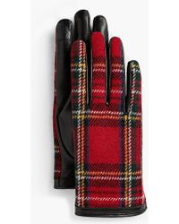 Talbots - Leather Touch Gloves - Tartan Plaid - Lyst