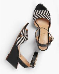 Talbots - Vivian Wedge Sandals - Yarn-dyed Stripe - Lyst