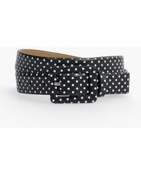 Talbots | Womans Exclusive Polka Dot Nappa Leather Belt | Lyst