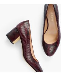 Talbots Isa Block-heel Court Shoes - Purple