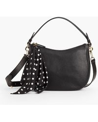 Talbots - Textured Leather Hobo With Scarf - Lyst