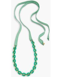 Talbots - Gingham Links & Ribbon Necklace - Lyst
