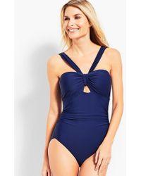 Talbots | Cutout Halter Swim Suit | Lyst