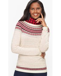 Talbots Nordic Fair Isle Crewneck Jumper - Multicolour