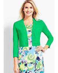 Talbots Lace-trim Dress Shrug - Green