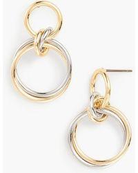Talbots - Interlocking Rings Earrings - Lyst