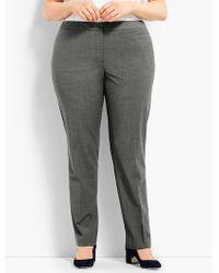 Talbots - Woman Exclusive Seasonless Wool Subtle Bootcut Trouser - Lyst