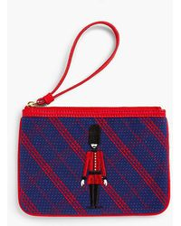 Talbots - Embroidered Plaid Novelty Wristlet - Lyst