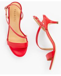 Talbots Pila Strappy Kitten Heel Sandals - Red