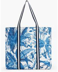 Talbots Canvas Tote Bag - Blue