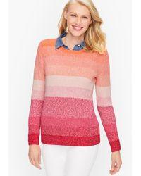 Talbots Pima Ombré Sweater - Pink