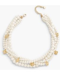 Talbots Pearl Multi-strand Necklace - White