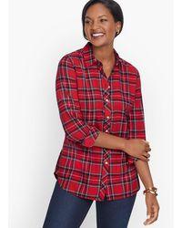 Talbots Classic Cotton Shirt - Red