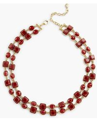 Talbots Two-layer Stone Necklace - Red