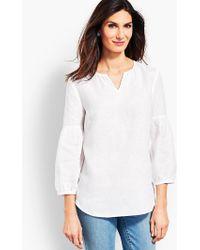 Talbots - Linen Lantern-sleeve Popover Shirt - Piece-dyed - Lyst