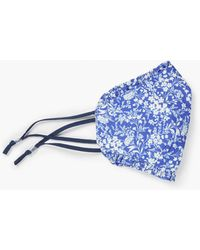Talbots Ditsy Floral Ruffle Face Mask - Blue