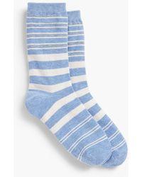 Talbots - Variegated Stripe Trouser Sock - Lyst