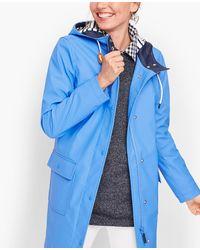 Talbots Classic Raincoat - Blue