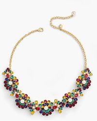 Talbots - Rainbow Statement Necklace - Lyst