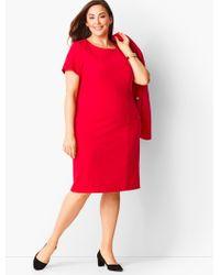 Talbots Italian Luxe Knit Sheath Dress - Red