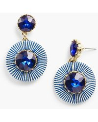 Talbots - Thread-wrap Circle Earrings - Lyst