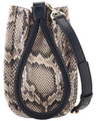 Tamara Mellon Kiss Mini Crossbody Bag - Natural