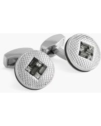 Tateossian - Sw Interlock Diamond Cufflinks - Lyst