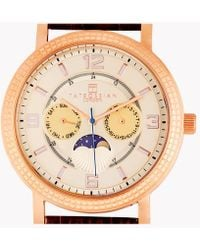 Tateossian - Eclipse Watch In Ip Rose Gold Plated Stainless Steel - Lyst